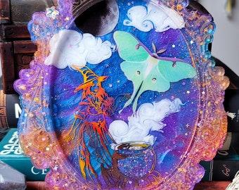 Witch decor, Halloween decor, Halloween, witchy shop, cauldron, spooky, alters, resin art
