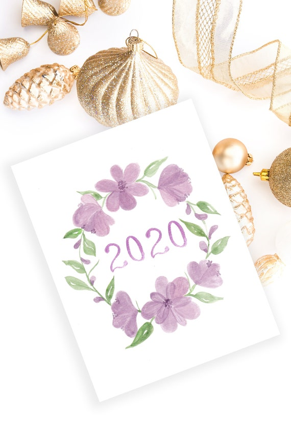 2020 Watercolor Cover Page Bullet Journal Stickers Planner | Etsy