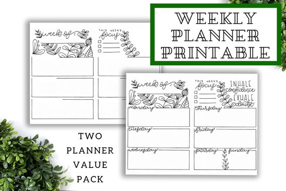 image relating to Weekly Journal Template identified as Bullet Magazine Template, Planner Printable 2019, Weekly Planner Printable, Bullet Magazine Printable, Productiveness Planner
