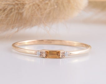 Birthstone By Artsmyrna Beautiful Ring Yellow Ring Handmade Ring Citrine Ring Simple Ring Boho Ring Sterling Silver 925