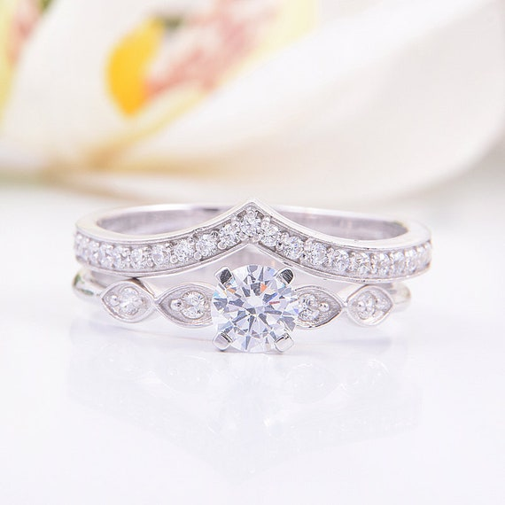 Engagement Rings Set Bridal Rings Set Women Wedding Rings Etsy