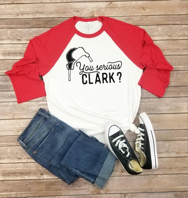 5df70c1e11 You Serious Clark Raglan Funny Christmas Tshirt Multiple | Etsy