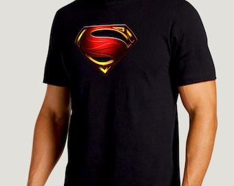 SUPERMAN CLASSIC Logo SHIRT Men Boys sizes and colors   Etsy