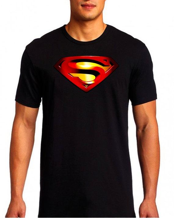 SUPERMAN SHIELD colorfull logo hd printing, indestructibe 100% cotton t shirt