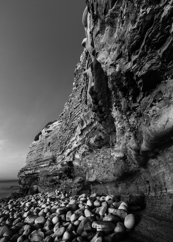Sunset Cliffs San Diego California Black And White