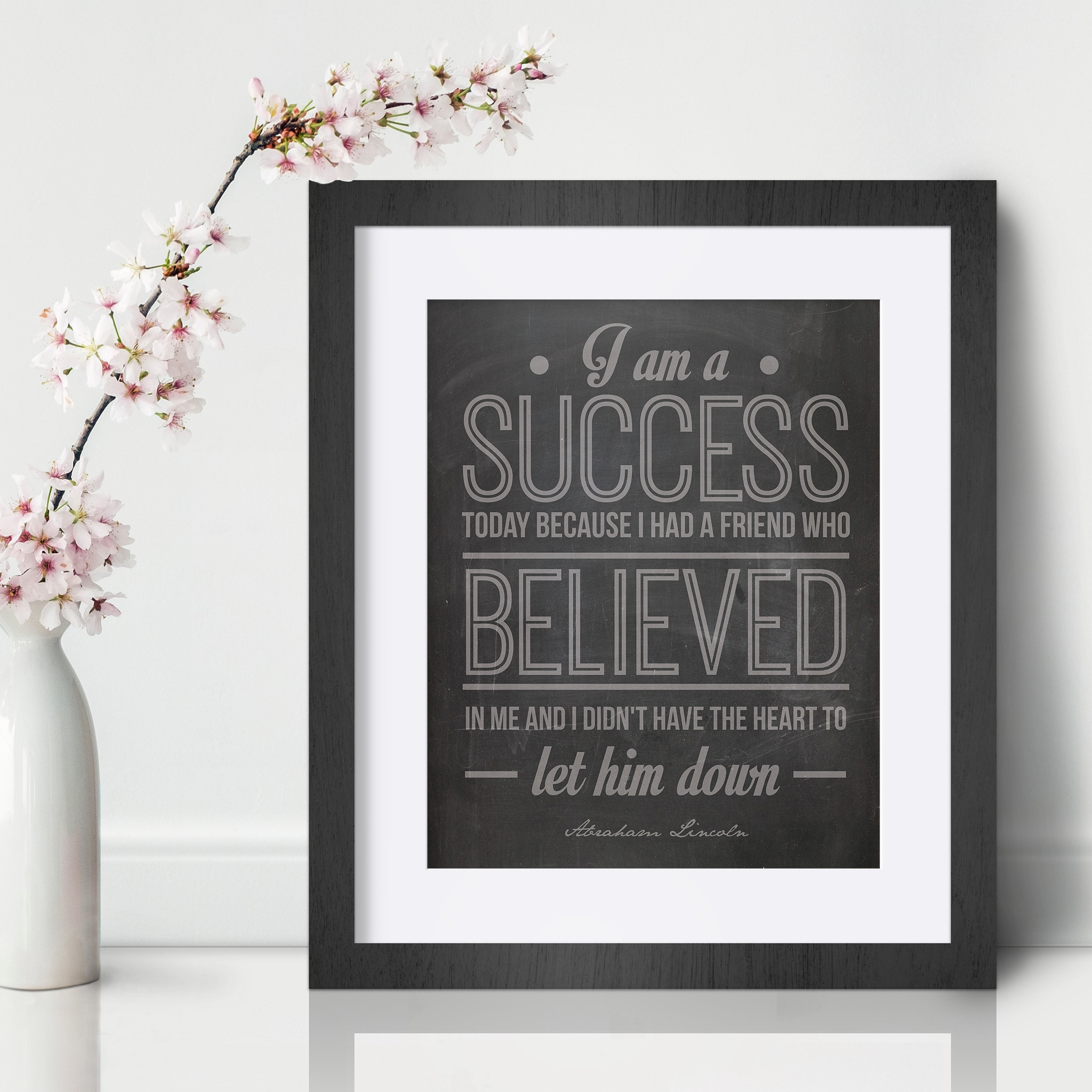 Blaine Lee Inspirational Wall Art Print Motivational Quote Poster Decor Gift her