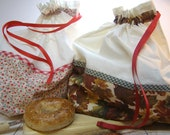 Bread bag for loaf pastries - reusable and washable