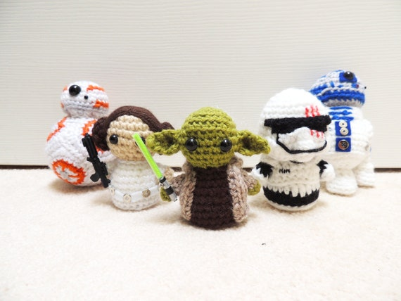 Star Wars Häkeln Amigurumi Puppen Etsy