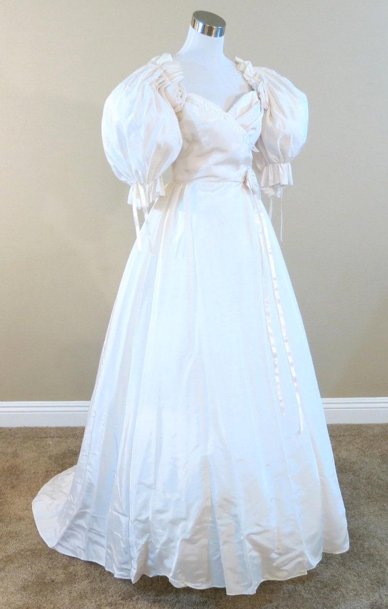 Southern Belle Wedding Dress Vintage Wedding Gown Waist Etsy