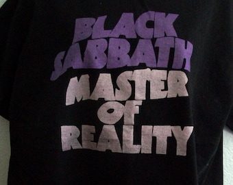 496771b8 Black Sabbath Master of Reality Tee Shirt Double Metallic Size S-XL