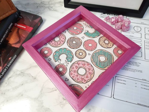 Donut bag and dice tray