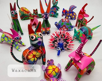 Hand Painted Alebrijes, Mexican Animal Spirit Alebrije, COCO Alebrijes