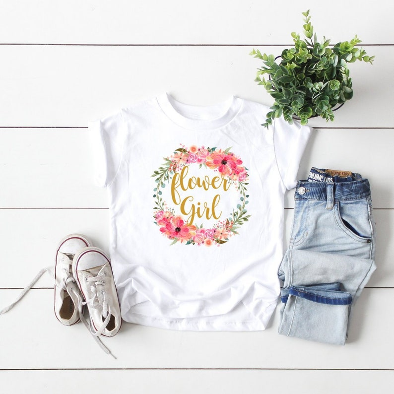 e04e03814 Flower Girl Shirt Flower Girl Onesie Flower Girl Proposal | Etsy