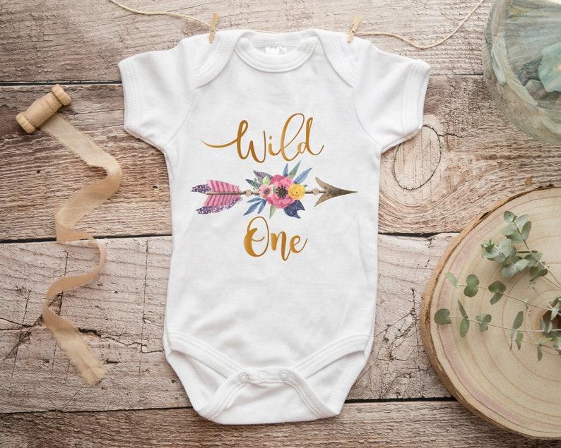 BABY GIRL/'S FIRST BIRTHDAY BODYSUIT VEST BABYGROW GIFT 1ST I AM ONE LONG SLEEVES