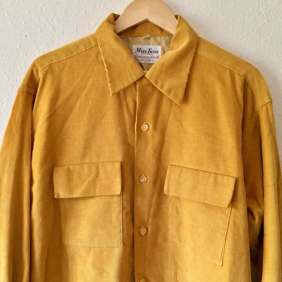 vintage Mark Twain corduroy shirt