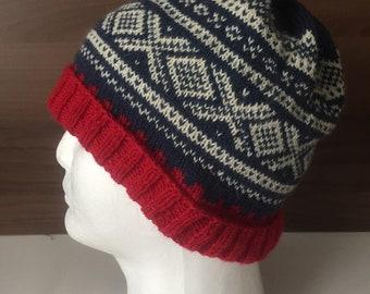6b66fb405ec Nordic Winter Hat. Adult Scandinavian Hat