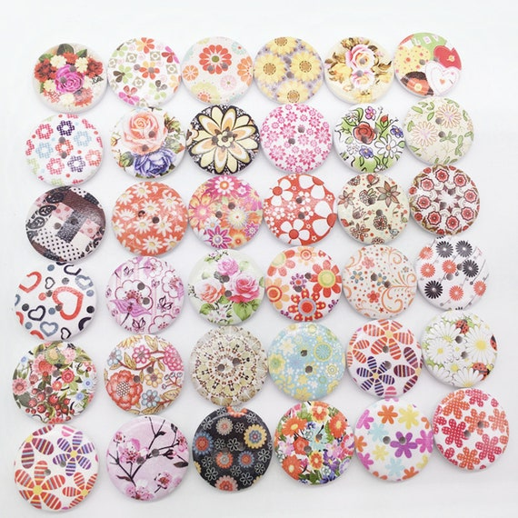 Mini Mixed Colors Resin mushroom Buttons sewing 5mm