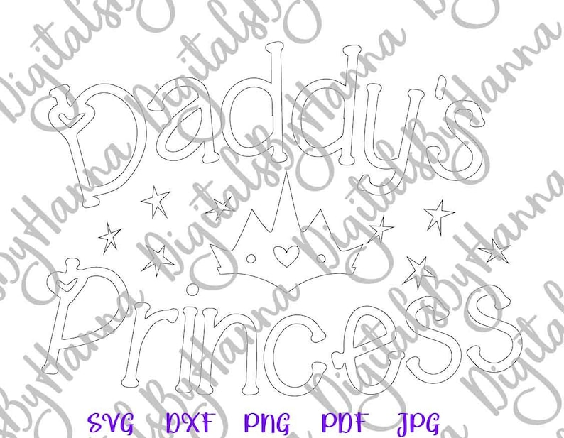 Baby Girl Onesie SVG Files for Cricut Daddy's Princess Has ...