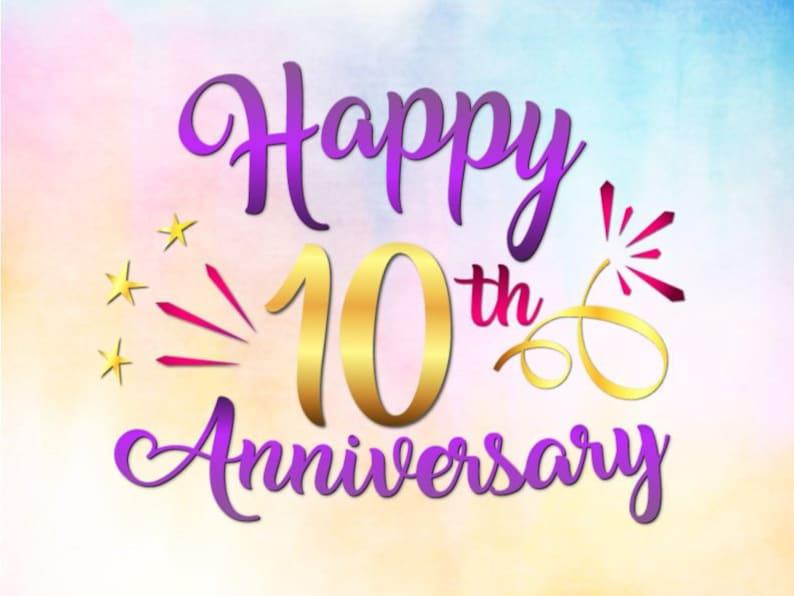 Happy 10th Anniversary SVG File for Cricut Tin Wedding ...