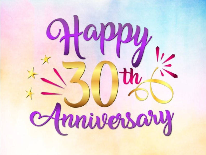 Happy 30th Anniversary Svg File For Cricut Pearl Wedding Etsy