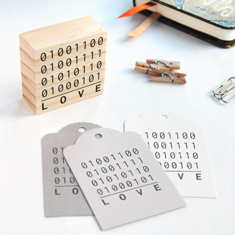 nerd wedding favors computer wedding decor binary codes wedding decor developer couple binary love rubber stamp binary code love stamp