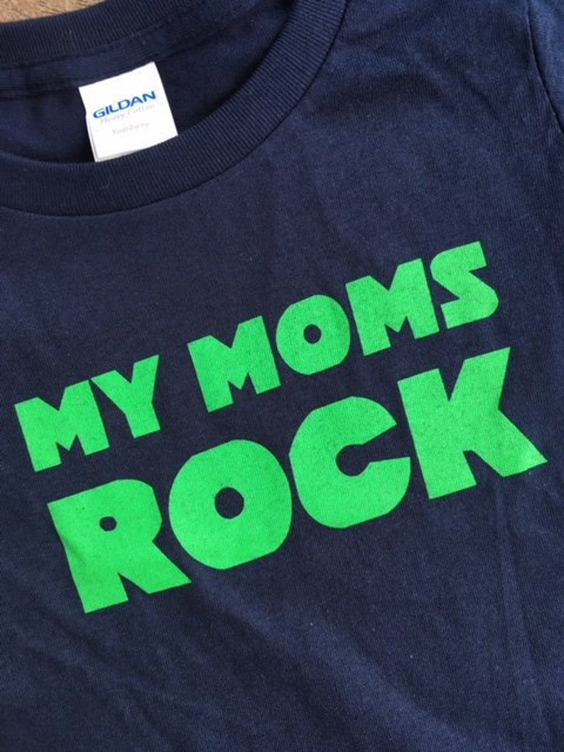 My Moms Rock (Infant/Toddler) - Same sex parents, gay parents, kids shirts,  two moms, two dads, LGBTQ shirts