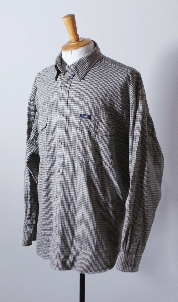 90s GEAR Oversized Checkered Shirt