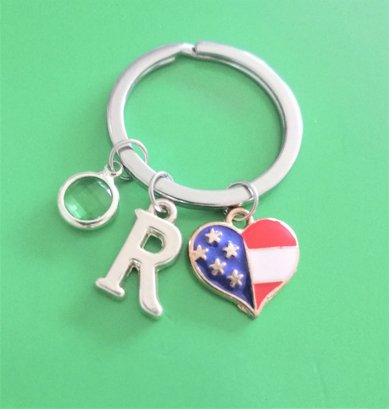 Hockey Keyring and Initial Letter A to Z Keychain Charm personalise Sticks ball