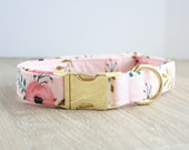 Dog Collar, Girl Dog Collar, Floral Dog Collar, Pink Dog Collar, Girl Dog Collars, Floral Dog Collars, Pink Dog Collars, Pet Collars, Oxford