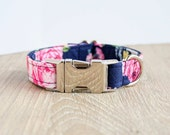Girl Dog Collar, Floral Dog Collar, Blue Dog Collar, Girl Dog Collars, Floral Dog Collars, Blue Dog Collars, The Oxford Dog, Pet Collars