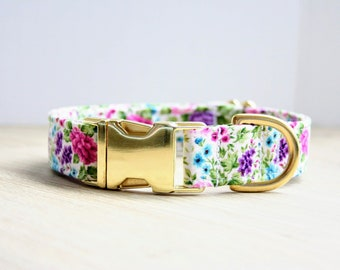 5ac54a2fa07c24 Floral Dog Collar