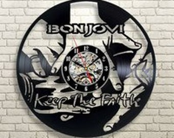 Felsen Musik Wanduhr Moderne Wohnzimmer Dekor Bon Jovi Band Wall Art Bon  Jovi Retro Vinyl Schallplatte Lp Uhr Geburtstag Geschenk Rock Musik  Wandkunst