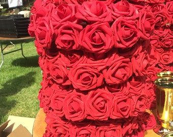 Rose Centerpiece Wreaths Artifical Wedding/Party/Kentucky Derby Theme Table  Decorations/center Pieces