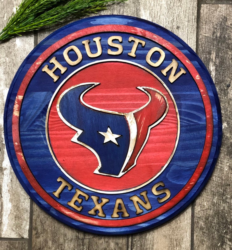 Houston Texans 3d Wall Decor Ready To Hang Valentines Day Etsy