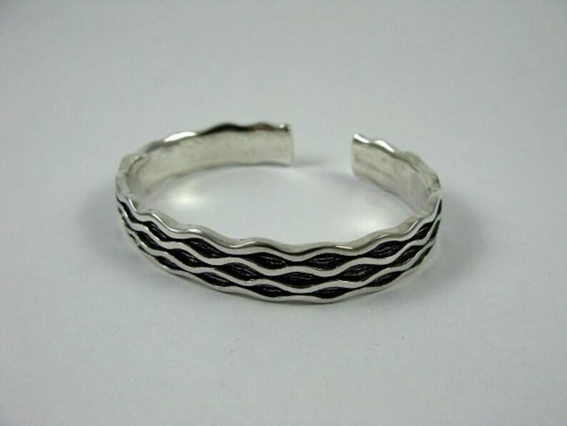 6f161f86d4d Sterling Silver Wave Bracelet Handmade Unique S Curve Cuff
