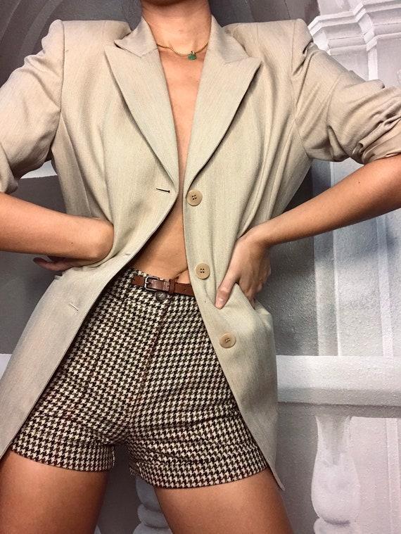 Tan oversized blazer - image 5