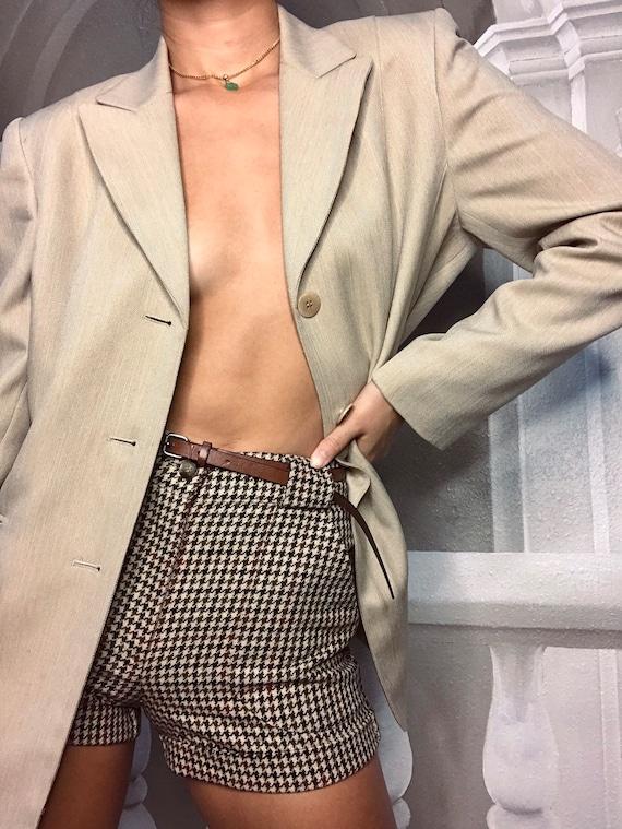 Tan oversized blazer - image 4