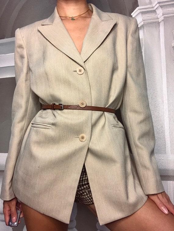 Tan oversized blazer - image 2