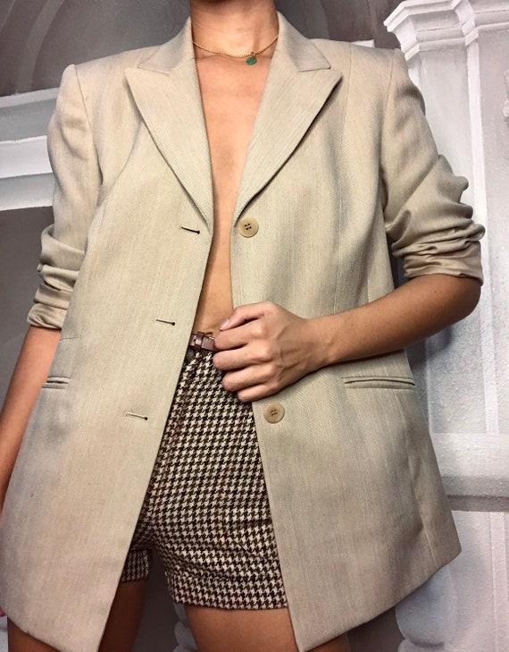 Tan oversized blazer - image 8