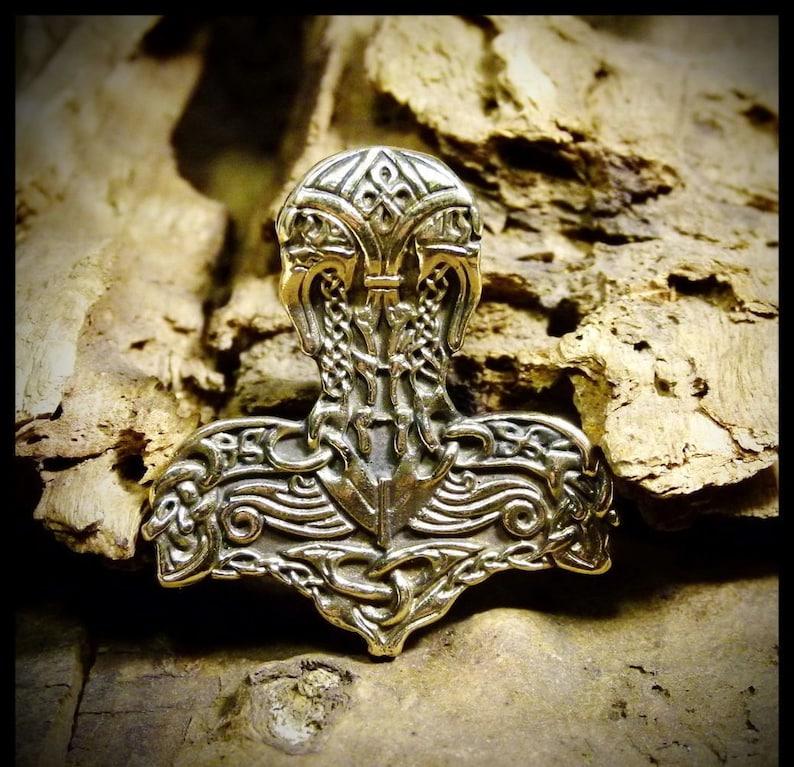 Pendant Thor S Hammer Mjolnir Vintage Viking Pagan Nordic Handmade Bronze Gift Rare Viking Jewelry Ancient Jewelry Necklace Amulet