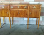 Vintage American of Martinsville mid century american made sideboard buffet credenza cabinet,Chippendale style, Federal style furniture