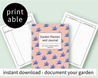 Garden journal and planner with instructions- printable - vegetable garden tracker
