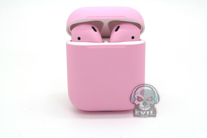 Apple AirPods 2nd Generation Charging Case + EarBuds - Custom Painted  Matte/Gloss Light Pink