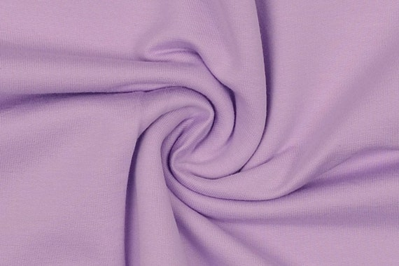 FRENCH TERRY LILAC loop back jumper hoodie sweatshirt fabric knit stretch jersey