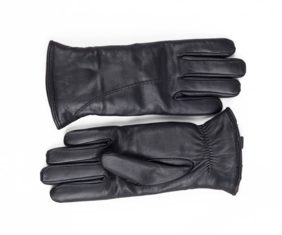 Zavelio Mens Premium Shearling Sheepskin Fur Lined Leather Gloves