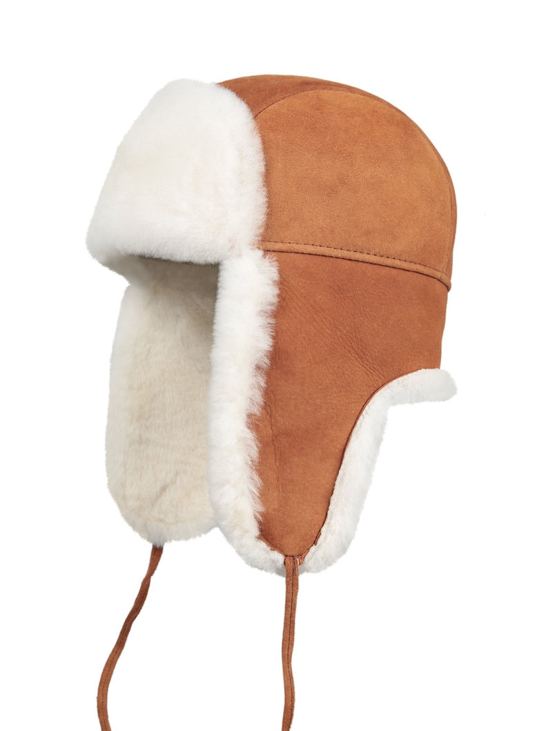 3ed9bad7b40 Shearling Sheepskin Leather Aviator Russian Ushanka Trapper