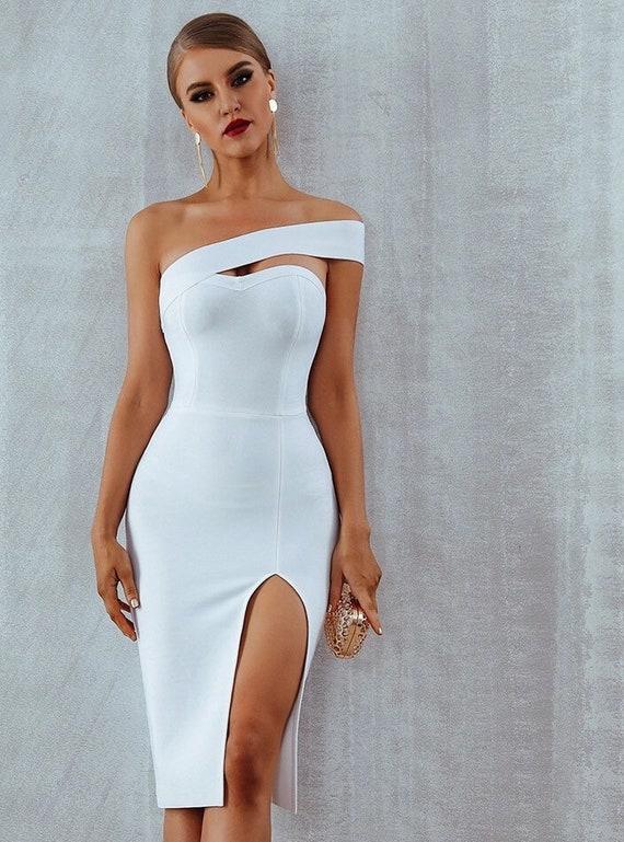 One Hand Off Shoulder Party Dresswedding Guest Dressclassy Dress Elegant Dress