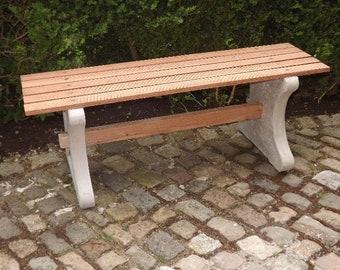 Garden bench Park bench ROMULUS Concrete bench Bench WPC 5-board