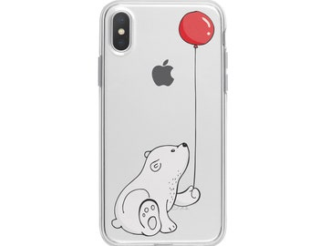 415a37021b Cartoon Polar Bear iPhone XS Max Case iPhone XR Cover iPhone X Case iPhone 7  Plus Case Winter Gift Case iPhone XS Case New iPhone YD0108