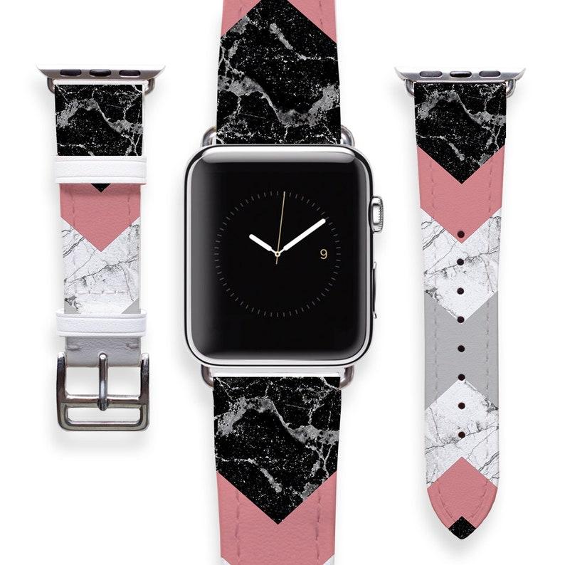 Marble Apple Watch Band Women Apple Watch Strap Genuine  5e14d858f4